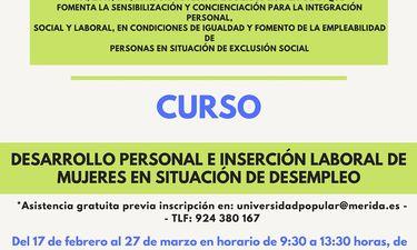La Universidad Popular de Mérida ofrece curso para mujeres en situación de vulnerabilidad