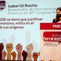 Gil Rosia PSOE no tiene que justificar su feminismo ya que milita en l desde su inicio
