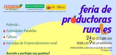 Mujeres extremeñas emprendedoras participarán en una feria de productoras rurales en Zafra