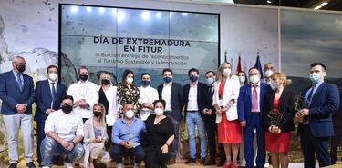 III Reconocimientos a la Innovacin y Sostenibilidad Turstica en stand de Extremadura
