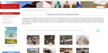 La Diputacin de Badajoz activa la web para adoptar perros