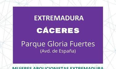 Cáceres se suma a la concentración a favor de la agenda feminista y contra las leyes trans