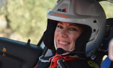 En su primera temporada como copiloto, la extremeña María del Mar Espinar en el nacional de asfalto
