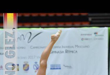 La gimnasta Carla Santano, entre las mejores de España