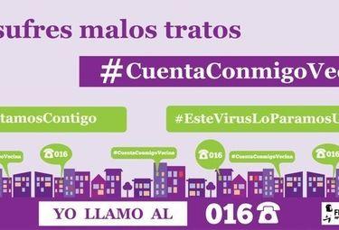 Campaña para pedir a vecinos ayuda contra la violencia de género, durante la pandemia