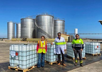 Viaoliva dona alcohol sanitario para 30000 dosis de gel hidroalcohlico