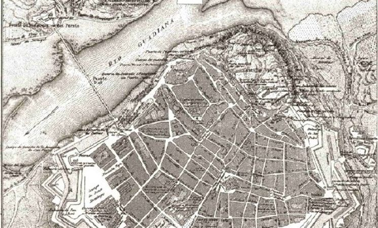Mapa De Badajoz Capital.Psoe Propone Situar Un Plano Antiguo De Badajoz Al Inicio De La Calle San Juan