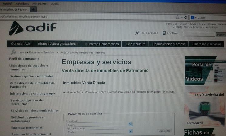 Adif ofrece en su p gina web la venta directa de 12 - Paginas de viviendas ...