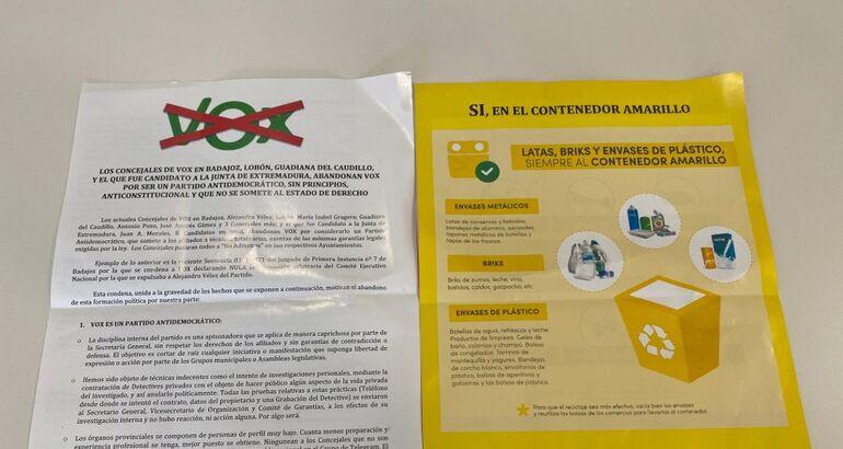 """PSOE-Badajoz cree que a Vélez """"le ha costado"""" abandonar VOX"""