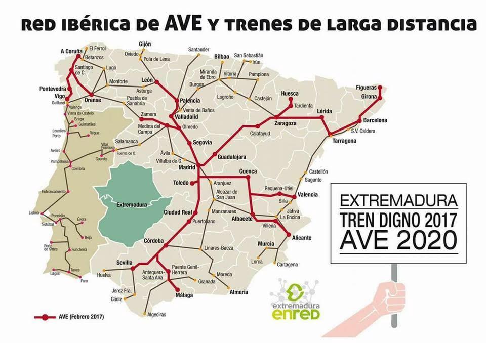 Extremadura Toma Madrid Por Un Tren Digno
